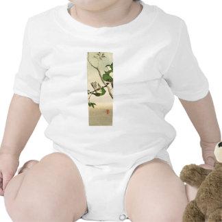Gorriones japoneses verdes no.1 traje de bebé