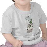 Gorriones japoneses verdes no.2 camiseta