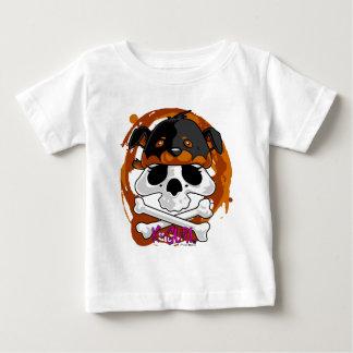 Gorrita tejida del cráneo de KGurl Rotty Playera Para Bebé