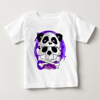 Gorrita tejida del cráneo de la panda de KGurl Playera Para Bebé