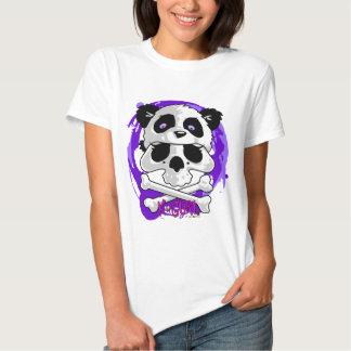 Gorrita tejida del cráneo de la panda de KGurl Poleras