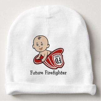 Gorrita tejida futura del bebé del bombero gorrito para bebe