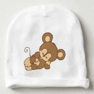 Gorrita tejida linda del mono el dormir gorrito para bebe