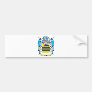 Gors Coat of Arms - Family Crest Bumper Sticker
