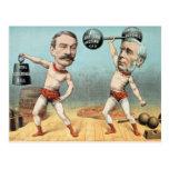 Goschen and Ritchie, the Champion Weight Postcard