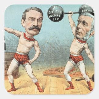 Goschen and Ritchie, the Champion Weight Square Sticker