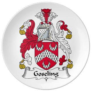 Goseling Family Crest Plate