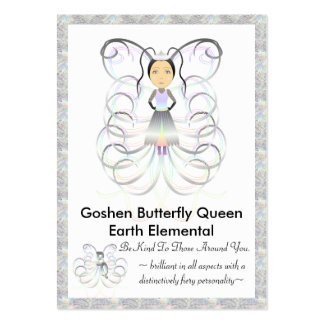 Goshen Butterfly Queen Trading Card Business Card Template