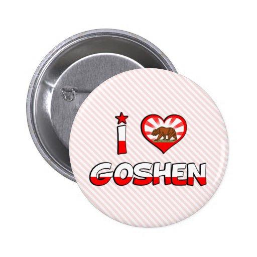Goshen, CA 2 Inch Round Button
