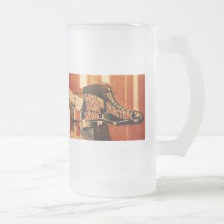 Goshen Electric Shoe Shop - One Frosted Glass Beer Mug