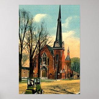 Goshen, Indiana YO iglesia 1915 Póster