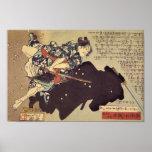 Gosho Gorozō battling a ninja Posters