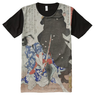 Gosho Gorozo Battling Shadow Yoshitoshi Fine Art All-Over Print Shirt