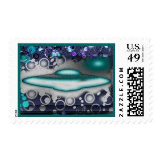 Goshy Flying Saucer Sticky Stamp