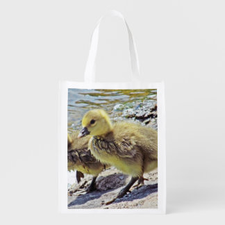 Gosling at Lakeside Reusable Grocery Bag