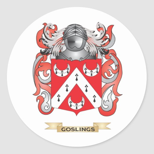 Goslings Coat of Arms (Family Crest) Classic Round Sticker