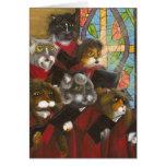 Gospel Choir Cats card