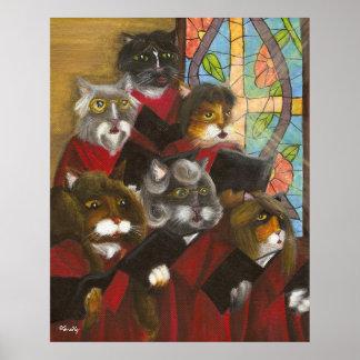 Gospel Choir Cats poster