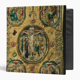 Gospel cover, gold with repousse 3 ring binder
