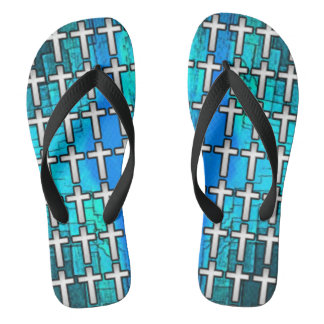 Gospel Cross Flip Flops