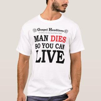 Gospel Headlines white t-shirt