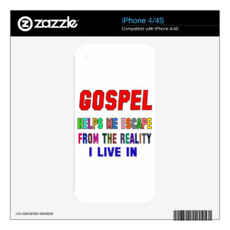 Gospel Helps Me Decal For The iPhone 4S