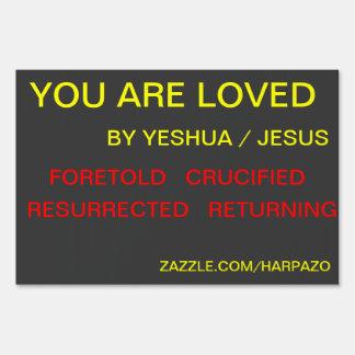Gospel nutshell yard sign
