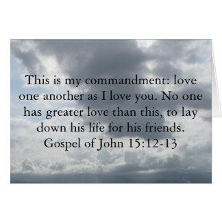 Gospel of John 15:12-13 Greeting Card