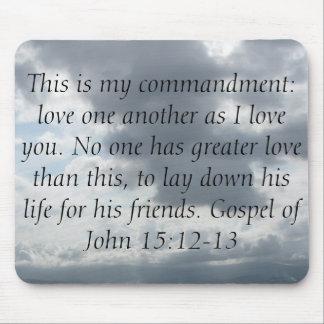 Gospel of John 15:12-13 Mouse Pad