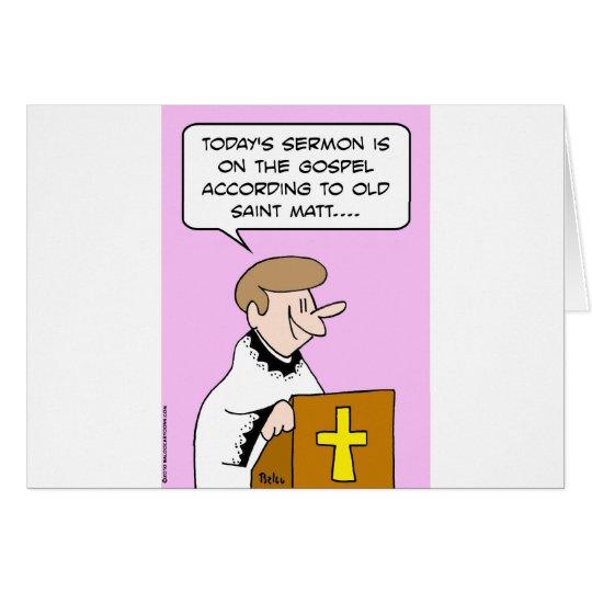 gospel saint matt card