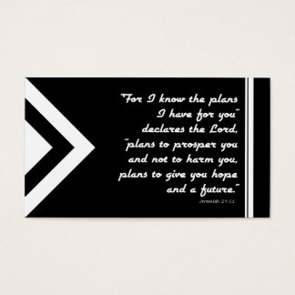 Gospel Tract Plan of Salvation Black and White Business Card