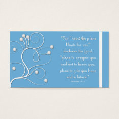 Gospel Tract Plan Of Salvation Blue Swirl Business Card at Zazzle