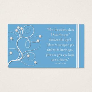 Gospel Tract Plan of Salvation Blue Swirl Business Card
