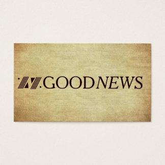 Gospel Tract Plan of Salvation Good News Business Card