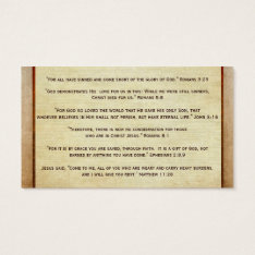 Gospel Tract Plan Of Salvation Good News Christian Business Card at Zazzle