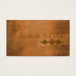 Gospel Tract Plan of Salvation Urban Contemporary Business Card
