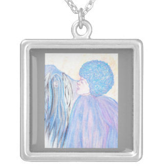 Gospel Wing Silver Plated Necklace