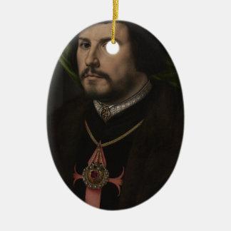 Gossaert - Portrait of Francisco de los Cobos y Mo Christmas Tree Ornament