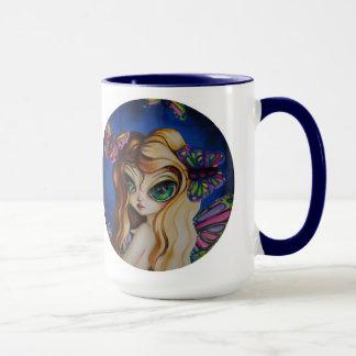 Gossamer Fairy Butterfly Big Eyed Art Mug