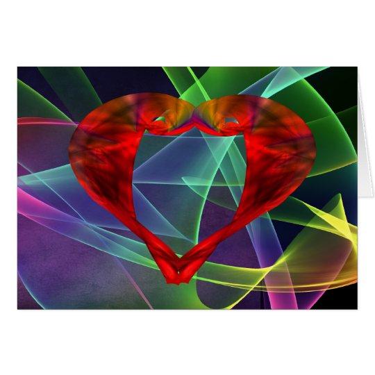 Gossamer Heart Abstract Valentine Card