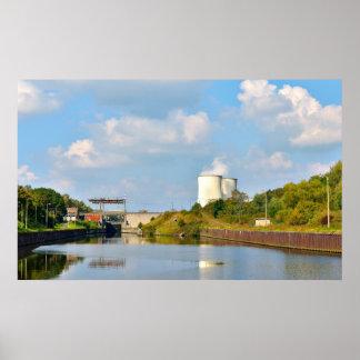 Gosselies power plant in Belgium Poster