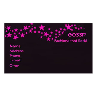 Gossip Double-Sided Standard Business Cards (Pack Of 100)