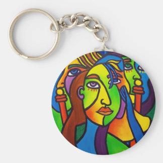 Gossip by Piliero Basic Round Button Keychain