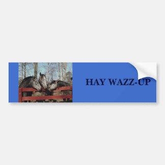 Gossip Corner, HAY WAZZ-UP Car Bumper Sticker