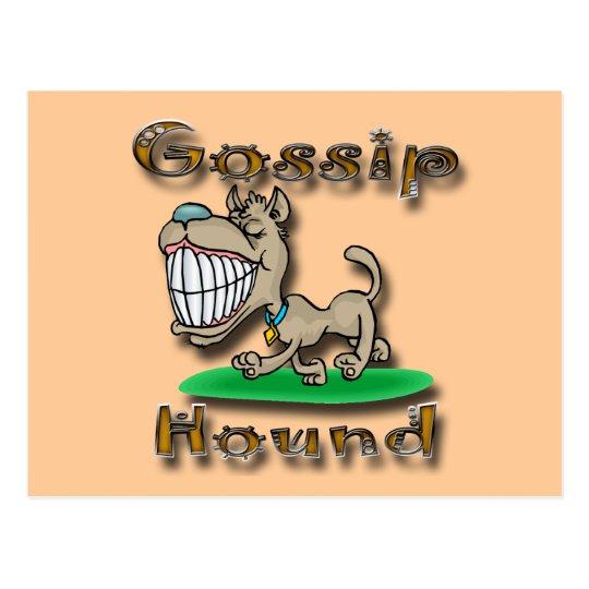 Gossip Hound gld Postcard