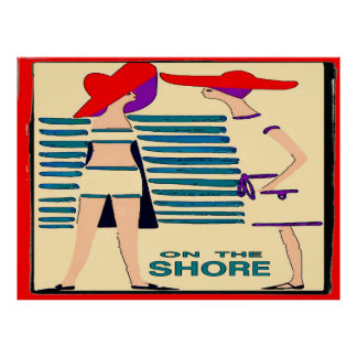 Gossip on the Jersey  Shore Abstract Poster