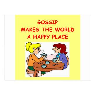 gossip postcard