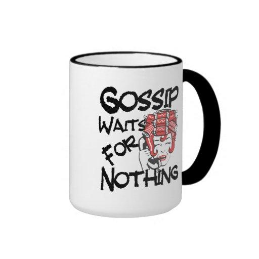 Gossip Waits for Nothing Ringer Coffee Mug