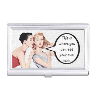 Gossipers retros de las mujeres de los años 50 cajas de tarjetas de negocios
