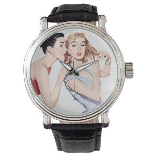Gossipers retros de las mujeres de los años 50 reloj
